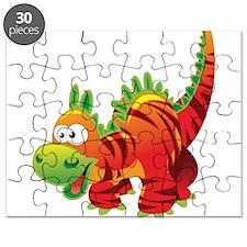 Red Striped Dinosuar Puzzle