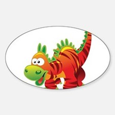 Red Striped Dinosuar Decal