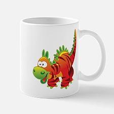 Red Striped Dinosuar Mugs