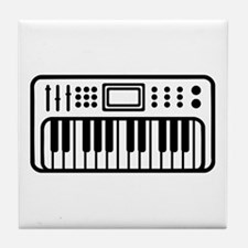 Keyboard piano Instrument Tile Coaster