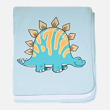 Cartoon Dino baby blanket