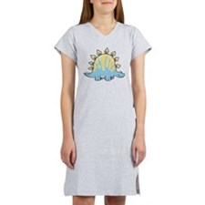 Cartoon Dino Women's Nightshirt