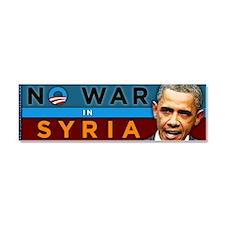No War in Syria - Obama Car Magnet 10 x 3