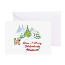 Goldendoodle Christmas Greeting Card