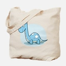 Blue Baby Dinosaur Tote Bag