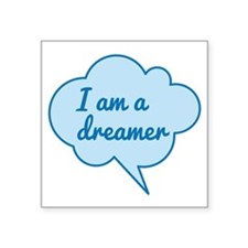 I am a dreamer, text design, blue cloud, word art