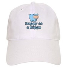 Happy As A Hippo Baseball Baseball Cap