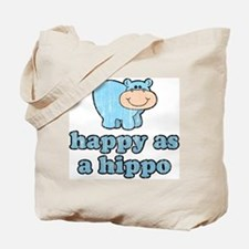 Happy As A Hippo Tote Bag