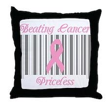 Beating Cancer Priceless Throw Pillow