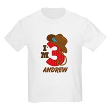 Cowboy 3rd Birthday Personalized T-Shirt