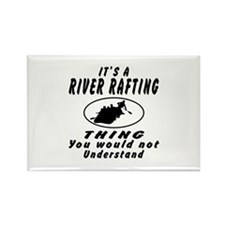 River Rafting Thing Designs Rectangle Magnet