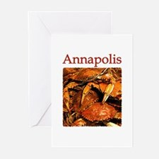 Annapolis Maryland (Steamed Crabs) Greeting Cards