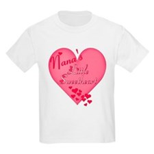 Nana's Little Sweetheart Kids T-Shirt
