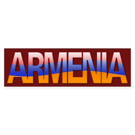 """""""Armenia Bubble Letters"""" Bumper Sticker"""