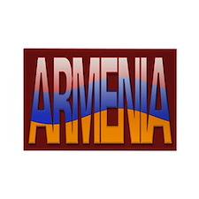 """Armenia Bubble Letters"" Rectangle Magnet"