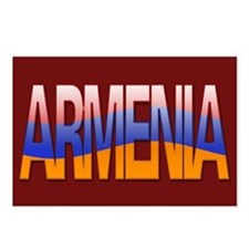 """""""Armenia Bubble Letters"""" Postcards (Package of 8)"""
