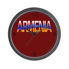 """Armenia Bubble Letters"" Wall Clock"