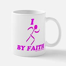 I Run By Faith (Womens 3rd Edition) Mugs