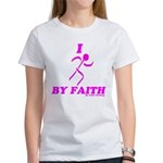 I Run By Faith (Womens 3rd Edition) T-Shirt