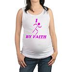 I Run By Faith (Womens 3rd Edition) Maternity Tank