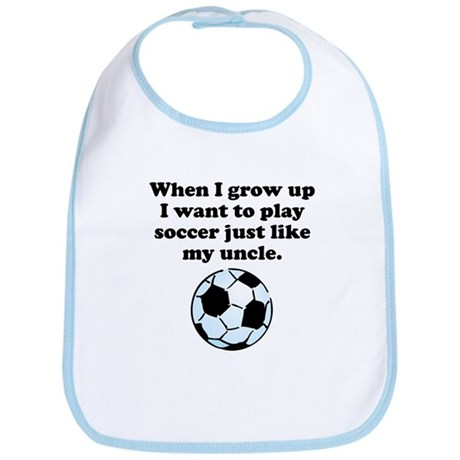 Play Soccer Like My Uncle Bib