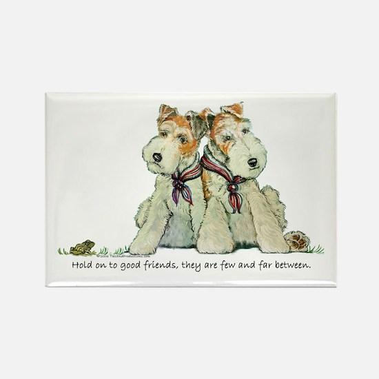 Fox Terrier Friends Rectangle Magnet