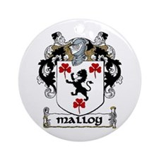 Malloy Coat of Arms Ornament (Round)