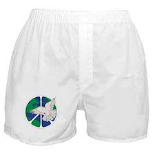 Peace Sign & Dove Boxer Shorts