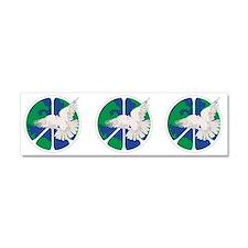 Peace Sign & Dove Car Magnet 10 x 3