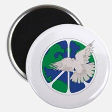 """Peace Sign & Dove 2.25"""" Magnet (10 pack)"""