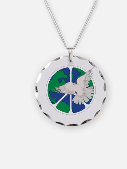 Peace Sign & Dove Necklace