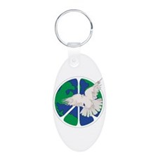 Peace Sign & Dove Keychains