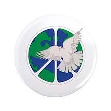 "Peace Sign & Dove 3.5"" Button"