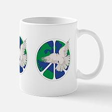Peace Sign & Dove Mug
