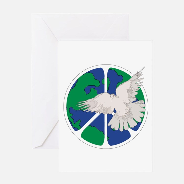 Peace Sign & Dove Greeting Card