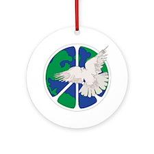 Peace Sign & Dove Ornament (Round)