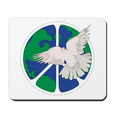 Peace Sign & Dove Mousepad