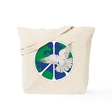 Peace Sign & Dove Tote Bag