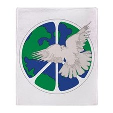 Peace Sign & Dove Throw Blanket