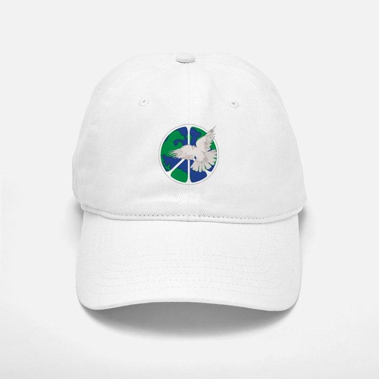 Peace Sign & Dove Baseball Baseball Cap