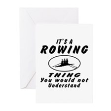 Rowing Thing Designs Greeting Cards (Pk of 10)
