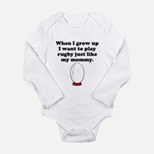 Play Rugby Like My Mommy Body Suit