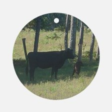 angus cow & calf Ornament (Round)