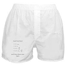 God Said Maxwell's Equations Boxer Shorts