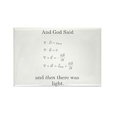 God Said Maxwell's Equations Rectangle Magnet