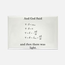 God Said Maxwell's Equations Rectangle Magnet