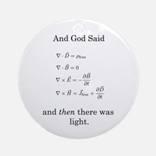 God Said Maxwell's Equations Ornament (Round)