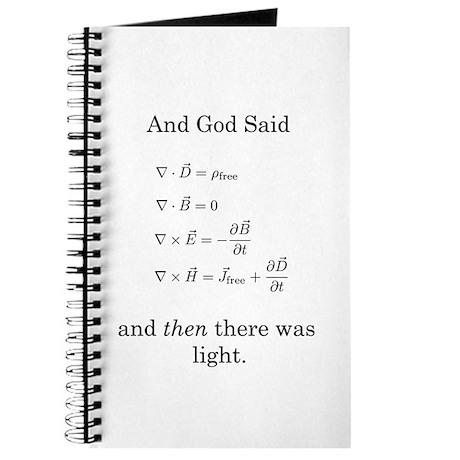 God Said Maxwell's Equations Journal