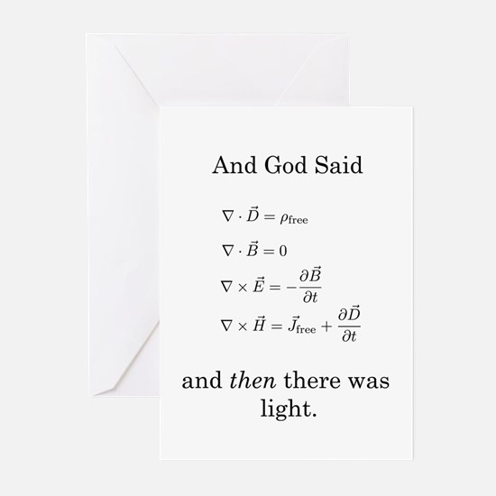 God Said Maxwell's Equations Greeting Cards (Pk of