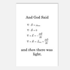 God Said Maxwell's Equations Postcards (Package of